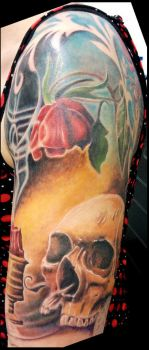 'Vanitas' themed upper sleeve by catbones