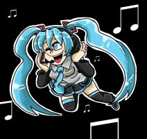 Vocaloid Miku by LittleGreenHat