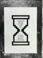 the end is not near silkscreen by tind