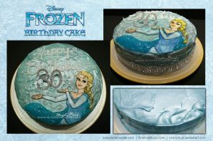 The Big Three-oh: Elsa Cake by KrisCynical