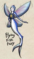 Oct 7 Char-design Challenge: Flying-Fish Fairy by Phatmouse09
