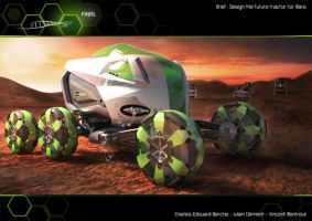 Tractor for Mars on the Ground by Vincent-Montreuil