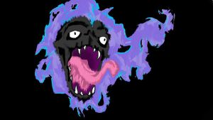 Realistic Gastly. Colored by drgknot