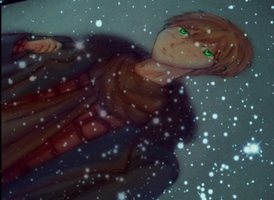 Makoto in the Snow by DeathAuther