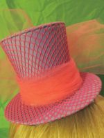 FOR SALE pink and purple fishnet mini hat by Ringo-Chu