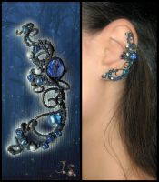 Ear cuff Night forest by JSjewelry