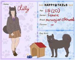 Happy Tails application: Lily by TheDarkLordCreator