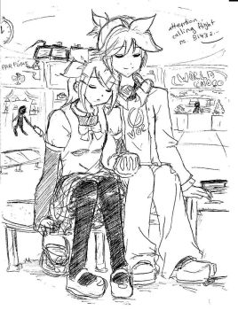 Travelling Together Sketch by suppiechan25