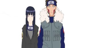 Kiba and Hinata Colors by golddiggerbaby
