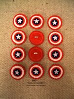 Captain America shields - felt badges by nezstorm