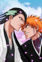 Bleach 162-Ichigo vs Byakuya by Salty-art