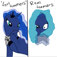 Real Gamer Luna by Scourgeous
