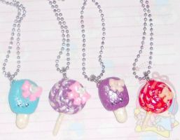 Lollipop + Popsicle Necklaces by Love-Who