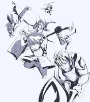 Final Fantasy XIV guild sketchies by Vincenttmw