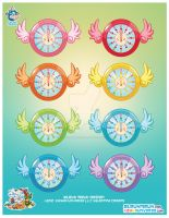 Kawaii Time Fly Clocks Series by KawaiiUniverseStudio