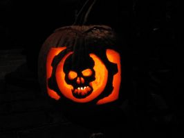 Gears of War Pumpkin by CriticalZER0