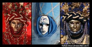 Venetian Masks: Ladies II by fabula-docet