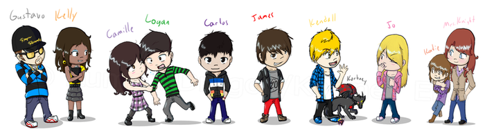 The Cast of Big Time Rush by KumoriDragon