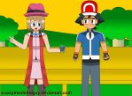 Ash and Serena Goes Lover Awesome by scottytheshieldguy