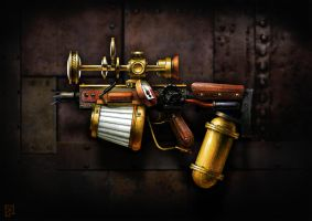 Steampunk Spike Gun by soongpa