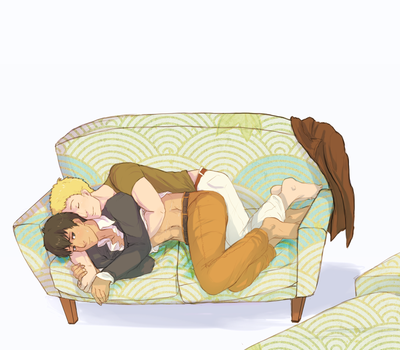 Big Spoon, Little Spoon, Tiny Couch by Ansemaru