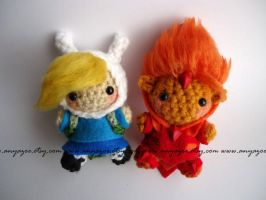 Fiona and the Fire Prince Amigurumi by AnyaZoe