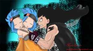 Gajeel y Levy capitulo 397 Manga Fairy Tail by Maxibostero