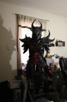 Skyrim Daedric Armor, lighting test by lsomething