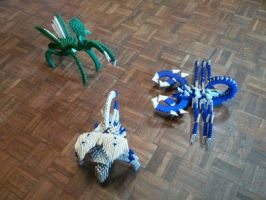 origami insect battle by kamui487