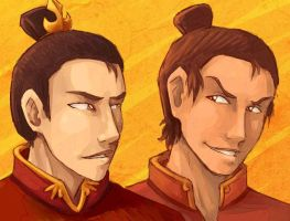 Jet+Zuko - Fire Nation Boys by AliWildgoose