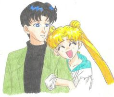 Mamoru and Usagi by sailorharmony2000