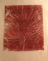 Lino Print by kirstywhyte