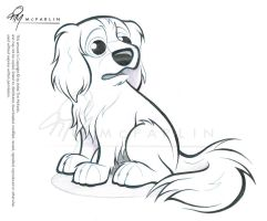 Cavalier Spaniel Caricature Sketch 3 by timmcfarlin