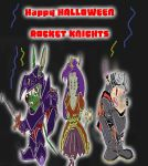 Happy Halloween Rocket Knights by cobra10
