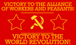 Communist Battle Banner by Party9999999