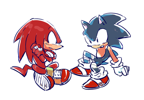 Sonic and Knuckles by sujinee