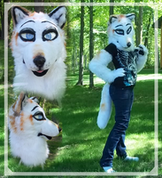 Calico Wolf Partial by Lunafex