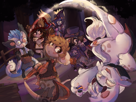 hollowbean trick or treat UNfinished entry by exitoricanQueen