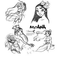 Moana Doodles by Nippy13