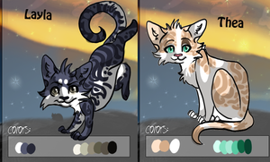 Layla and Thea adoption by collie-rado