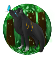 Butterfly Wolf Thing by Watertrack