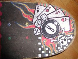 skateboard painting by kornera