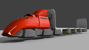 RiftRoamers RPG - AeroTruck with FlatbedTrailer by riftroamer