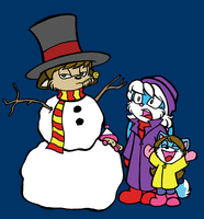 Snow Fun with Cyber and Family by cyberhare