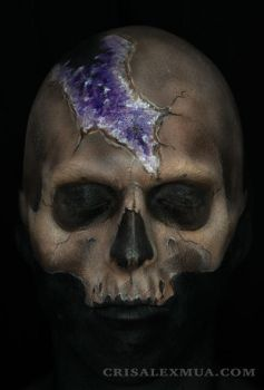 Crystal Skull Face Paint by CrisAlexMUA