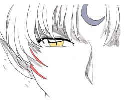Sesshomaru evil eye in colored by angel-kerena