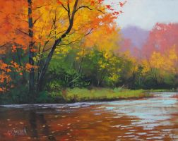 Autumn Stream by G.Gercken by artsaus