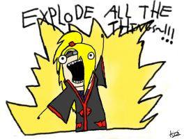 Deidara-EXPLODE ALL THE THINGS! by Kimaruuww