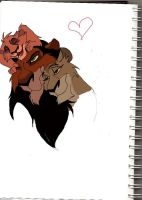 Scar's family Colored Version by WolffNoelle