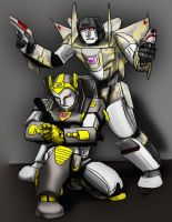 Two Decepticons by jameson9101322
